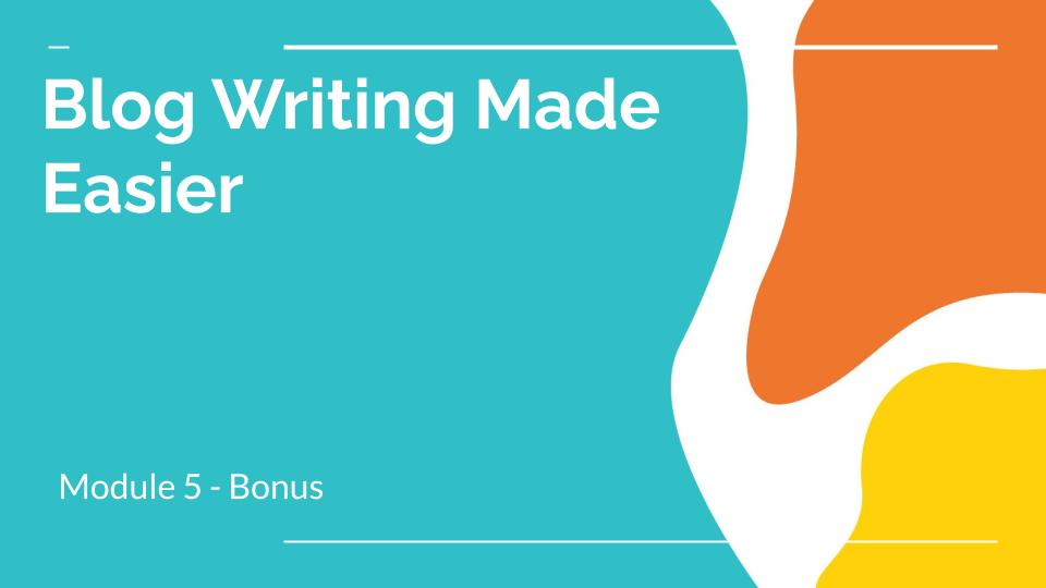 copywriting course for blog writing
